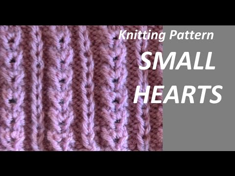 Knitting Pattern Small Hearts Youtube