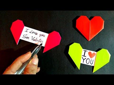 Corazón con mensaje oculto - Origami Heart with message