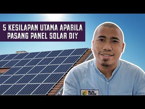 5 Kesilapan Utama Apabila Pasang Panel Solar DIY