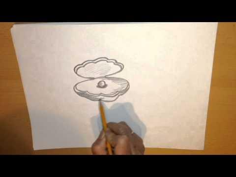 Как нарисовать ракушку карандашом