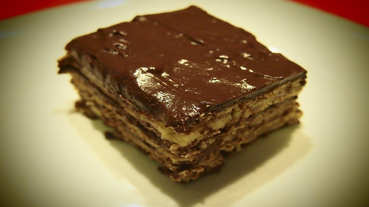 Tarta De Galleta Y Chocolate Receta Facil Youtube