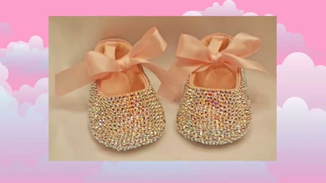 Pink Baby Shoes Baby Bling Swarovski Crystal Baby Pink Shoes Keepsake Gift  Idea - YouTube 67e4b122f