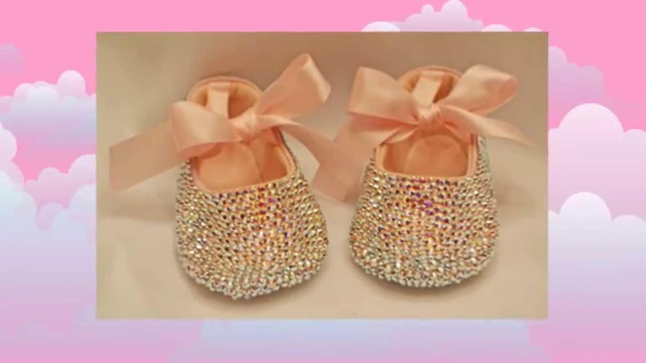 Pink Baby Shoes Baby Bling Swarovski Crystal Baby Pink ...