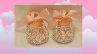 Pink Baby Shoes Baby Bling Swarovski Crystal Baby Pink Shoes Keepsake Gift Idea