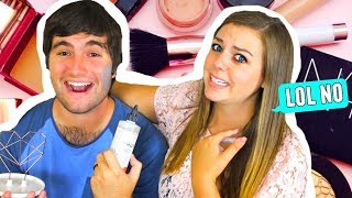 HUSBAND GUESSES GIRL PRODUCTS!! TRENDY BEAUTY & MAKEUP PRODUCTS FOR FALL 2017!