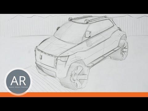 Autos ganz einfach zeichnen lernen. Skizzieren und Ideen umsetzen. Mappenkurse transportationdesign