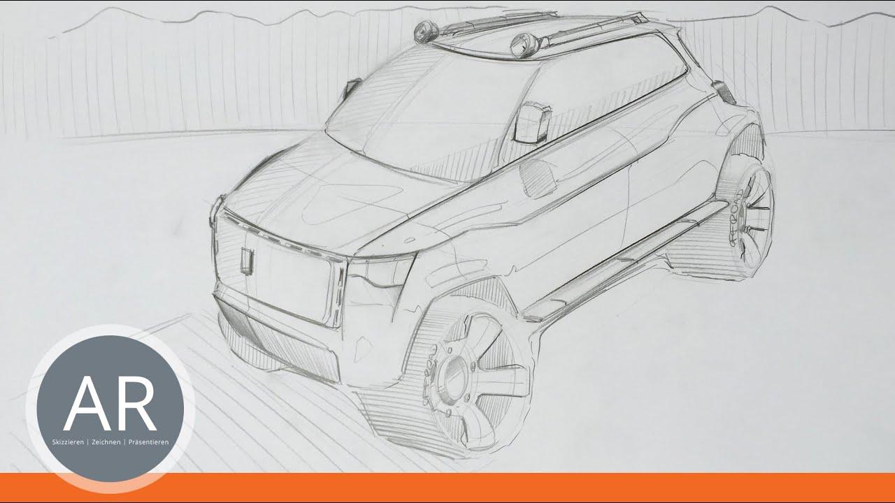 Autos ganz einfach zeichnen lernen. Skizzieren und Ideen umsetzen ...