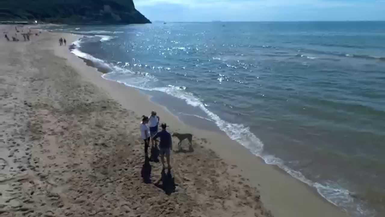 Matrimonio Spiaggia Circeo : San felice circeo la maga vista da un drone dalla