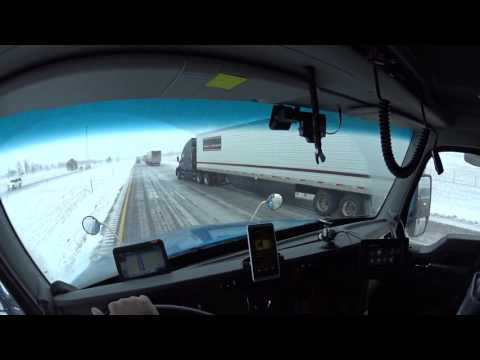 2315 Nebraska black ice and cross wind