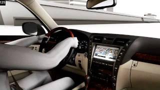 Демо-відео в 2008 Лексус ЛЗ змінним передавальним числом рульового управління (VGRS)