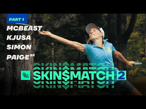 DISC GOLF SKIN$ MATCH 2 | Part 1 | McBeth, Pierce, Lizotte, Jones at Smuggs