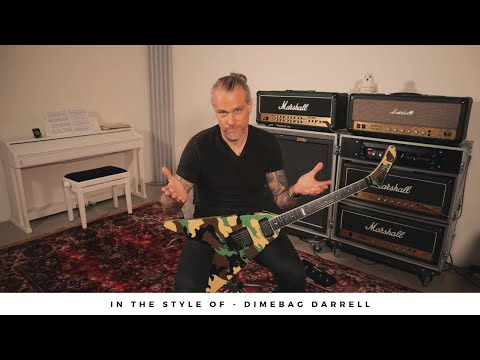 In The Style Of - DIMEBAG DARRELL - Part 1