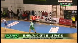 Andebol :: Porto - 29 x Sporting - 28 de 2014/2015 Supertaça
