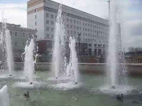 Россия.Томск.Фонтан на набережной.(Russia.Tomsk.Fountain on the waterfront.)