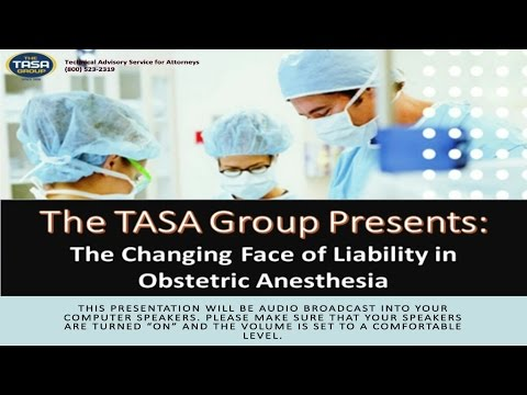 The Changing Face of Liability in Obstetric Anesthesia