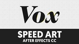 S002 Vox Media Animated Logo Speed Art