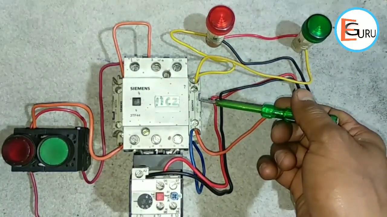 DOL Starter में ONOFF Indicator Wiring कैसे करे | Electrical Starter ON OFF Wiring | Electric