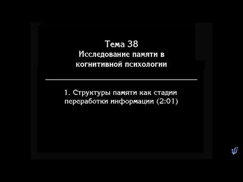 В. В.  Петухов.   Лекция № 49. Структура памяти.