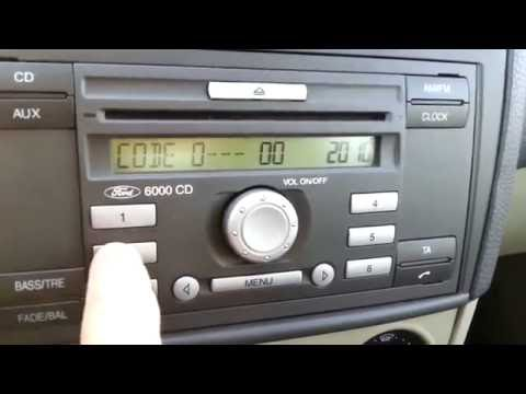 """Ford Fiesta Mk6 - Entering the """"Key Code"""" to the Radio"""