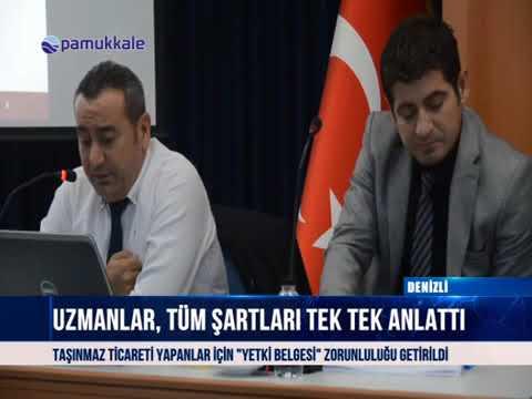 Pamukkale Emlak Müşavirleri DTO'da toplandı 12 10 2018