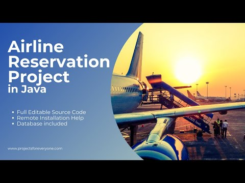 Airline Reservation System Project in Java with MySql, JDBC and Swing