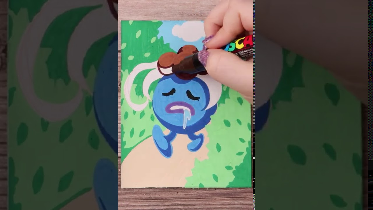 Drawing Gloom from Pokemon with Posca Markers