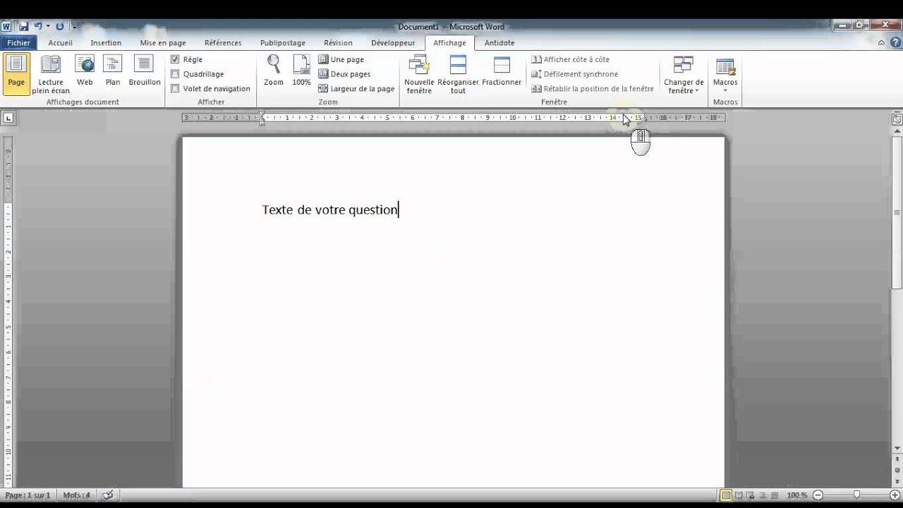 Ajouter Des Lignes De Reponses Word 2010 Youtube