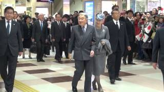 天皇皇后両陛下、特急しまかぜで奈良へ  【Their Majesties the Emperor and Empress of Japan】 thumbnail