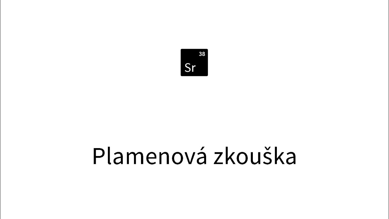 Plamenova Zkouska Stroncium Slow Motion Youtube