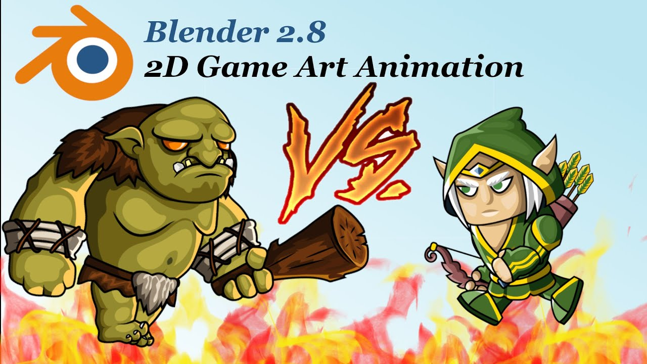 How to make 2D character animation [Blender tutorial]