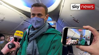 Poisoned putin critic alexei navalny has returned to russia from germany where he had been recovering after being exposed the soviet-era novichok nerve ag...