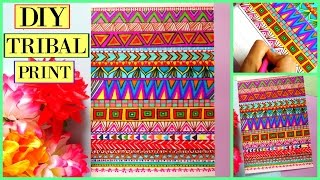 DIY- Easy Tribal Print Patterns.!