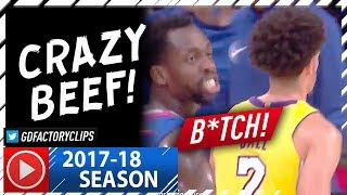 "Lonzo Ball vs Patrick Beverley CRAZY Beef Highlights (2017.10.19) - Calling Lonzo a ""B#tch"""