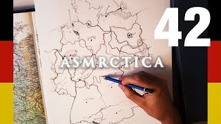 ASMR 1+ Hour Drawing Map of Germany Soft Spoken