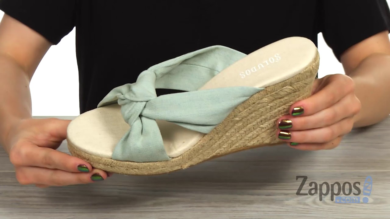 998eab9d05c Soludos Knotted Wedge SKU  9044874 - YouTube