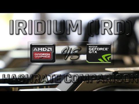 Iridium mining Hashrate|Power usage AMD GPU vs NVIDIA GTX GPU | RX VEGA 64 and 15 more GPUs Tested