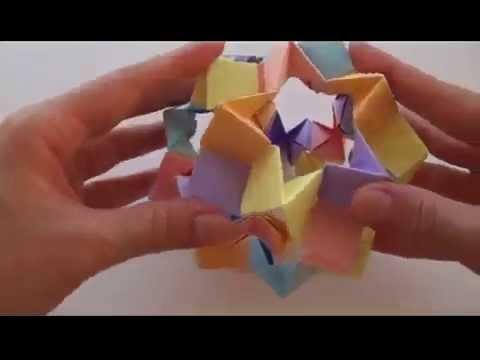 Кусудама оригами Волшебный шар