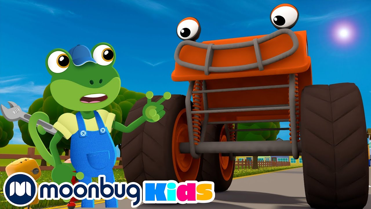 Max The Monster Truck Song   Geckos Garage   Song Compilation   Nursery Rhymes & Kids Songs
