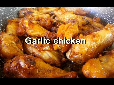 TASTY GARLIC CHICKEN WINGS - easy food recipes for dinner to make at home