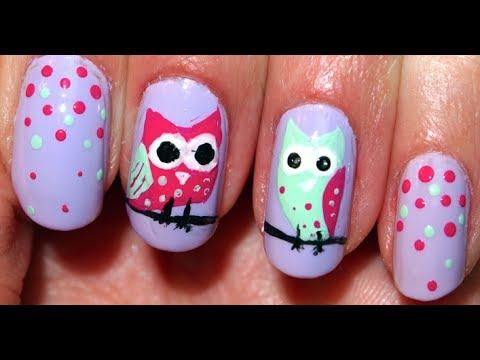 Cute Owl Nails ❤ - ❤ Cute Owl Nails ❤ - YouTube