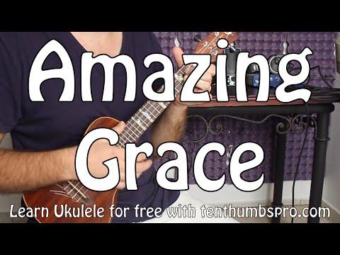 Amazing Grace - Ukulele Chord Melody Tutorial with full tabs