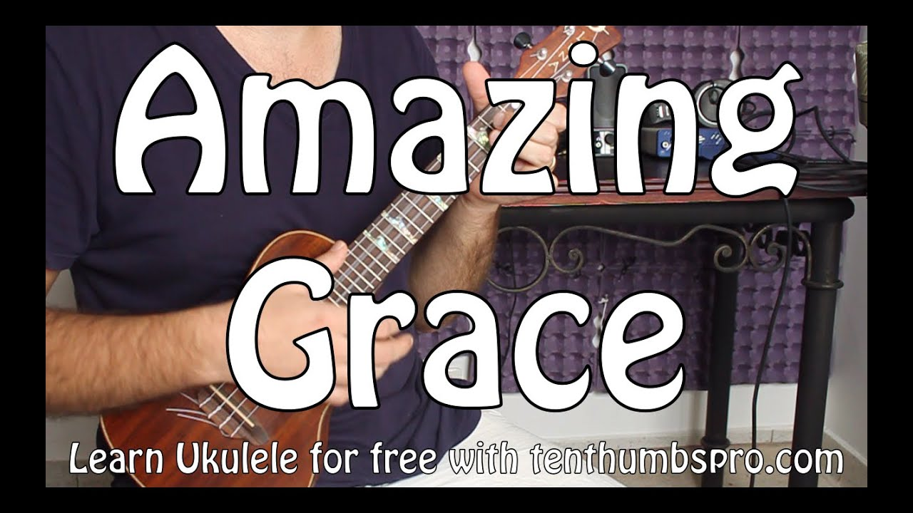 Amazing grace ukulele chord melody tutorial with full tabs youtube hexwebz Image collections
