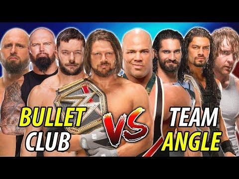 The Shield & Kurt Angle vs. Bullet Club (AJ Styles Finn Balor Luke Gallows Karl Anderson)