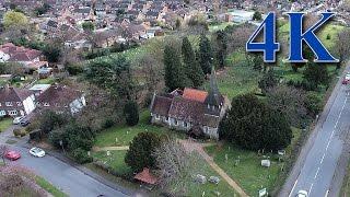 st mary s church byfleet surrey aerial survey on 5th april 2016