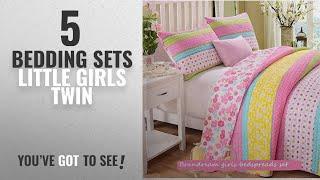 Top 10 Bedding Sets Little Girls Twin [2018]: Brandream Pink Polka Dot Stripe Floral Quilt Set,Twin