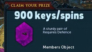 Using 900 Treasure Hunter keys/spins