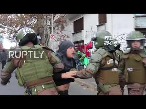 Chile: Chaos hits Santiago as teachers protest turns violent