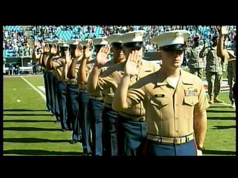 Re-Enlistment Ceremony at Bank of America Stadium