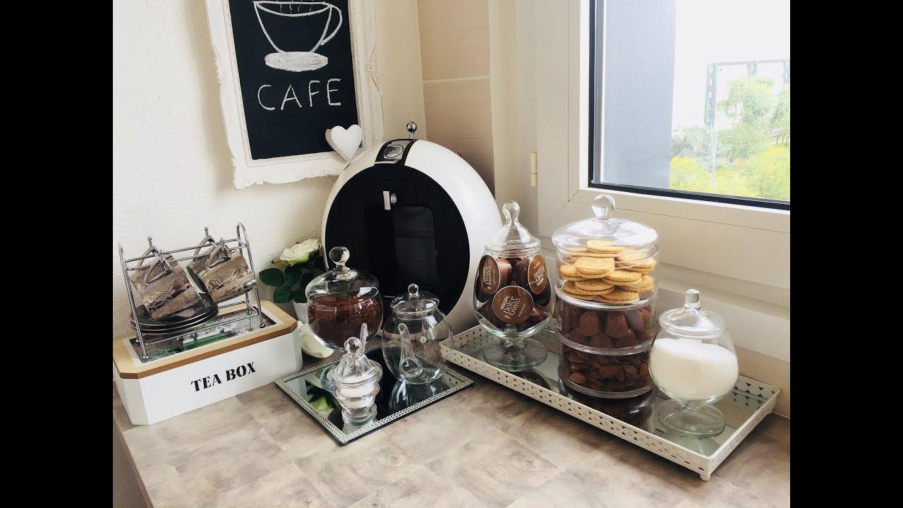 ركن القهوة عملت ركن القهوة و الشاي بالفكر بسيطة جدا Coffee Corner Youtube