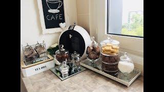 (ركن القهوة) عملت ركن القهوة و الشاي بالفكر بسيطة جدا ☕️(coffee corner)